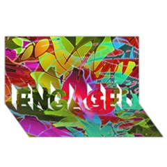 Floral Abstract 1 Engaged 3d Greeting Card (8x4)  by MedusArt