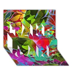Floral Abstract 1 Take Care 3d Greeting Card (7x5)  by MedusArt