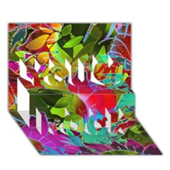 Floral Abstract 1 You Rock 3d Greeting Card (7x5)  by MedusArt