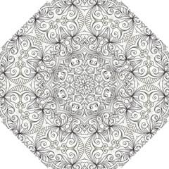Drawing Floral Doodle 1 Golf Umbrellas by MedusArt
