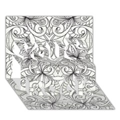 Drawing Floral Doodle 1 You Rock 3d Greeting Card (7x5)  by MedusArt