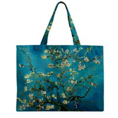 Blossoming Almond Tree Zipper Tiny Tote Bags by MasterpiecesOfArt