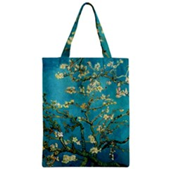 Blossoming Almond Tree Zipper Classic Tote Bags by MasterpiecesOfArt