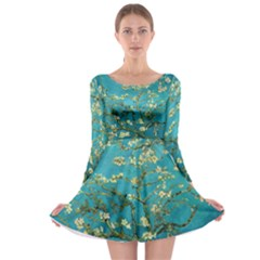 Blossoming Almond Tree Long Sleeve Skater Dress by MasterpiecesOfArt