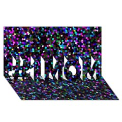 Glitter 1 #1 Mom 3d Greeting Cards (8x4)  by MedusArt