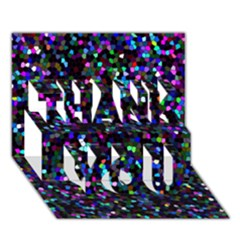 Glitter 1 THANK YOU 3D Greeting Card (7x5)
