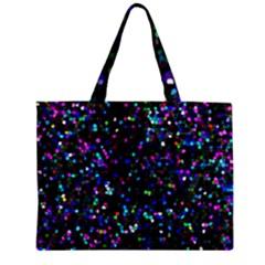 Glitter 1 Zipper Tiny Tote Bags by MedusArt