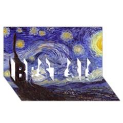 Van Gogh Starry Night Best Sis 3d Greeting Card (8x4)  by MasterpiecesOfArt