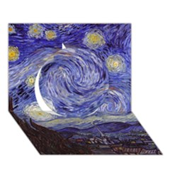 Van Gogh Starry Night Circle 3d Greeting Card (7x5)  by MasterpiecesOfArt