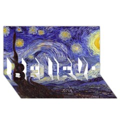 Van Gogh Starry Night BELIEVE 3D Greeting Card (8x4)  by MasterpiecesOfArt
