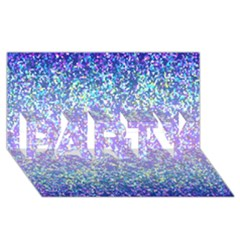Glitter 2 Party 3d Greeting Card (8x4)  by MedusArt