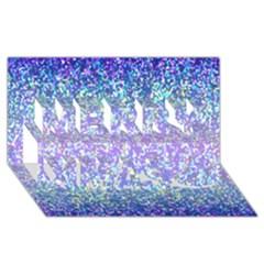 Glitter 2 Merry Xmas 3d Greeting Card (8x4)  by MedusArt
