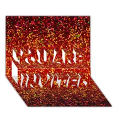 Glitter 3 You Are Invited 3d Greeting Card (7x5)  by MedusArt