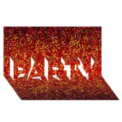 Glitter 3 Party 3d Greeting Card (8x4)  by MedusArt