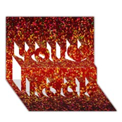 Glitter 3 You Rock 3d Greeting Card (7x5)  by MedusArt