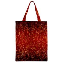 Glitter 3 Zipper Classic Tote Bags by MedusArt