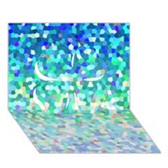 Mosaic Sparkley 1 Clover 3d Greeting Card (7x5)  by MedusArt