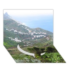 Tenerife 10 Circle Bottom 3d Greeting Card (7x5)  by MoreColorsinLife