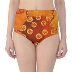 Cancer Zodiac Sign High Waist Bikini Bottoms