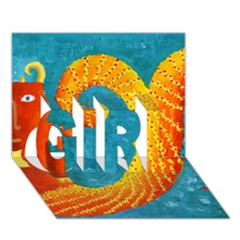 Capricorn Zodiac Sign Girl 3d Greeting Card (7x5)  by julienicholls