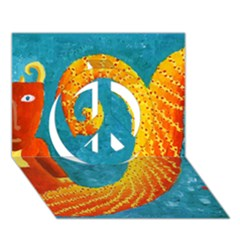 Capricorn Zodiac Sign Peace Sign 3d Greeting Card (7x5)  by julienicholls