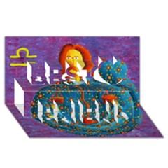 Libra Zodiac Sign Best Friends 3d Greeting Card (8x4)  by julienicholls
