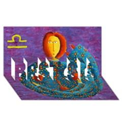 Libra Zodiac Sign Best Sis 3d Greeting Card (8x4)  by julienicholls