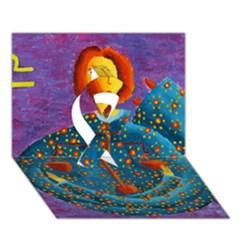 Libra Zodiac Sign Ribbon 3d Greeting Card (7x5)  by julienicholls