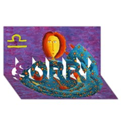 Libra Zodiac Sign Sorry 3d Greeting Card (8x4)  by julienicholls