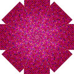 Polka Dot Sparkley Jewels 1 Straight Umbrellas by MedusArt