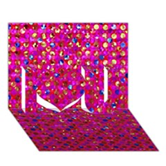 Polka Dot Sparkley Jewels 1 I Love You 3d Greeting Card (7x5)  by MedusArt