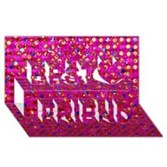 Polka Dot Sparkley Jewels 1 Best Friends 3D Greeting Card (8x4)  by MedusArt