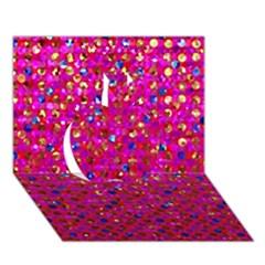 Polka Dot Sparkley Jewels 1 Apple 3d Greeting Card (7x5)  by MedusArt
