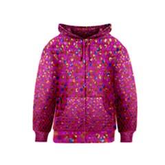 Polka Dot Sparkley Jewels 1 Kids Zipper Hoodies by MedusArt