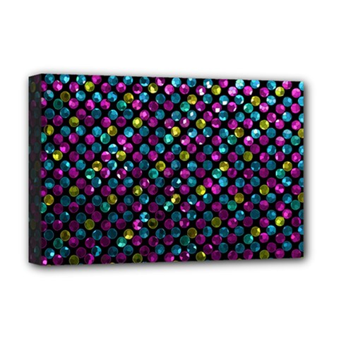 Polka Dot Sparkley Jewels 2 Deluxe Canvas 18  X 12   by MedusArt