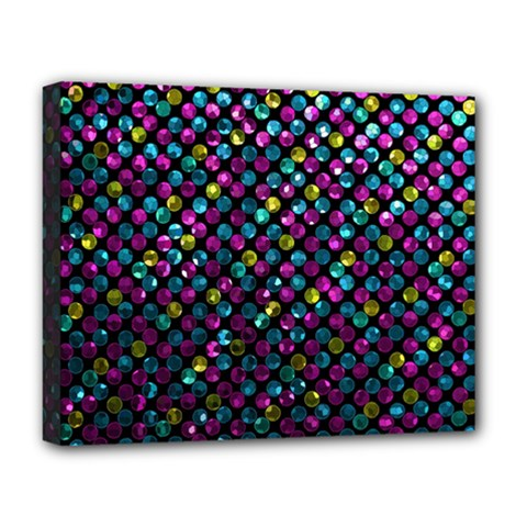 Polka Dot Sparkley Jewels 2 Deluxe Canvas 20  X 16   by MedusArt
