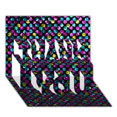 Polka Dot Sparkley Jewels 2 Thank You 3d Greeting Card (7x5)  by MedusArt