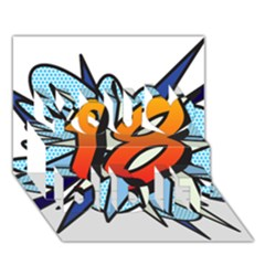 Comic Book 18 Blue You Did It 3d Greeting Card (7x5)