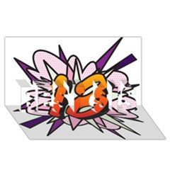 Comic Book 18 Pink Best Sis 3d Greeting Card (8x4)  by ComicBookPOP
