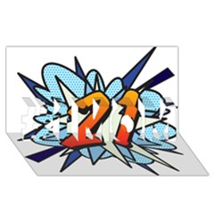 Comic Book 21 Blue #1 Mom 3d Greeting Cards (8x4)  by ComicBookPOP