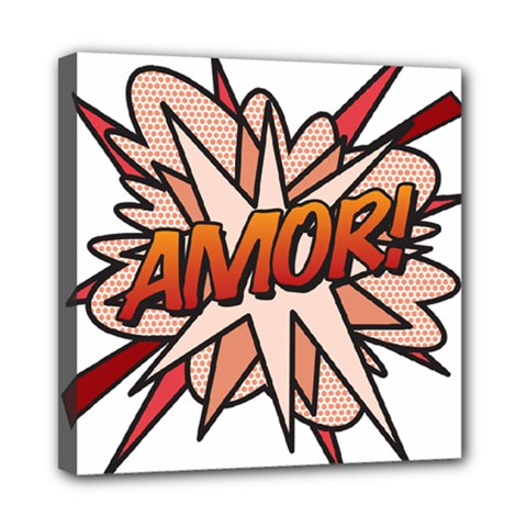 Comic Book Amor! Mini Canvas 8  x 8  by ComicBookPOP