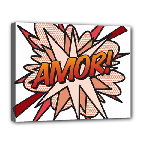 Comic Book Amor! Canvas 14  X 11  by ComicBookPOP