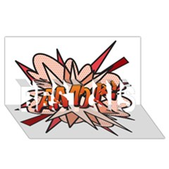 Comic Book Amor! Best Sis 3d Greeting Card (8x4)  by ComicBookPOP