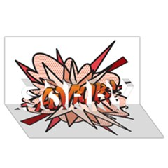 Comic Book Amor! Sorry 3d Greeting Card (8x4)  by ComicBookPOP