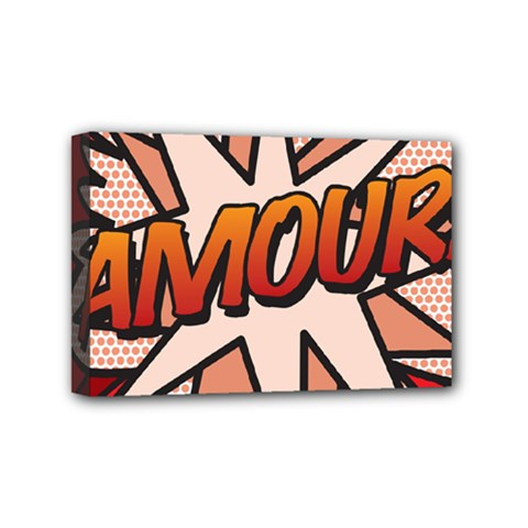 Comic Book Amour!  Mini Canvas 6  X 4  by ComicBookPOP