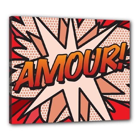 Comic Book Amour!  Canvas 24  x 20  by ComicBookPOP