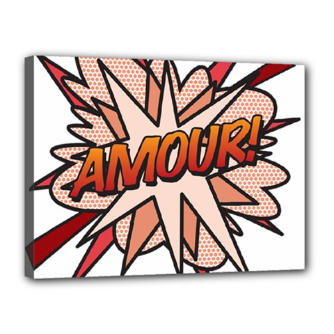 Comic Book Amour! Canvas 16  x 12  by ComicBookPOP
