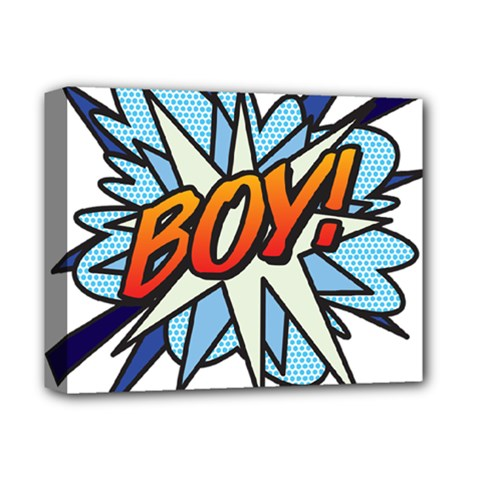 Comic Book Boy! Deluxe Canvas 14  x 11  by ComicBookPOP