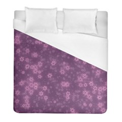 Snow Stars Lilac Duvet Cover Single Side (twin Size) by ImpressiveMoments