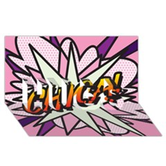 Comic Book Chica!  Hugs 3d Greeting Card (8x4)  by ComicBookPOP